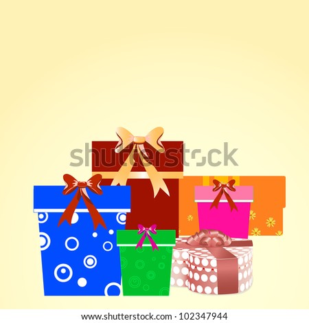 many large boxes of gifts