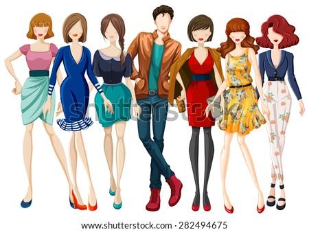 many models wearing fashionable