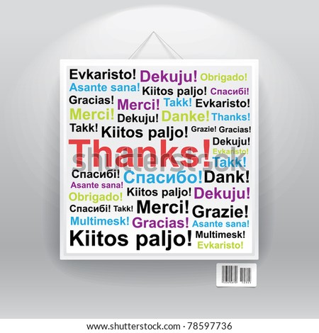 Many thanks in differenr languages on board.
