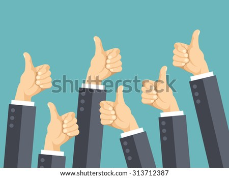 many thumbs up social network