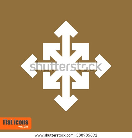 Many ways directional arrow. Symbol in trendy flat style, isolated. Icon for app, web and digital design. Vector illustration.