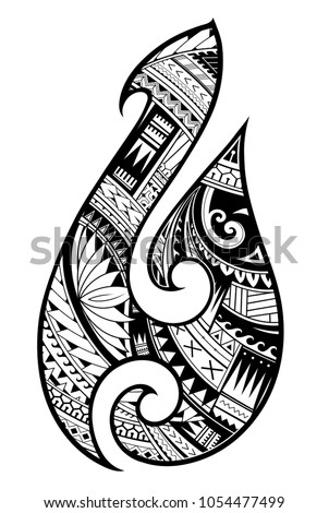 maori ethnic style tattoo as