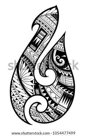 maori ethnic style tattoo as