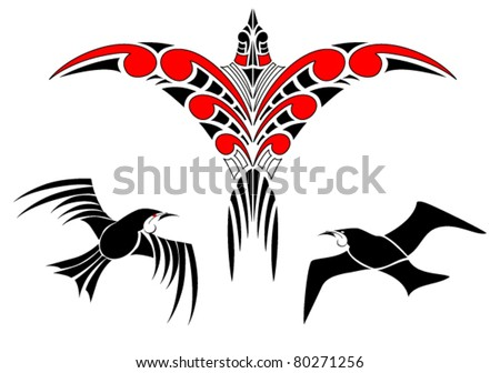 maori koru bird designs