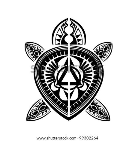 5ff96c651 Maori / Polynesian Style tattoo turtle Stock Photo 101506180 ...