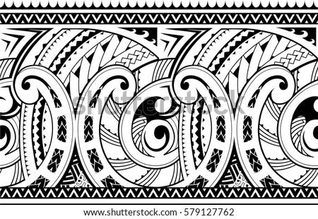 Maori border free vector 123freevectors for Vector tattoo sleeve