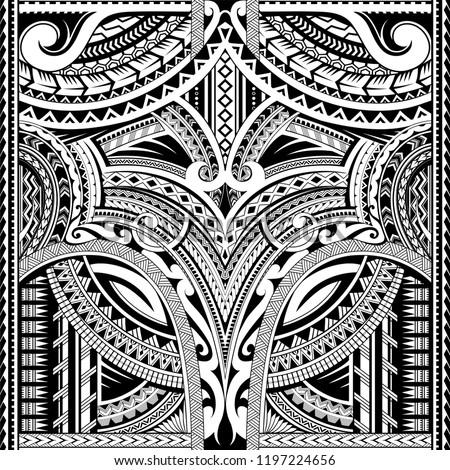 Maori style seamless tattoo. Good for sleeve area