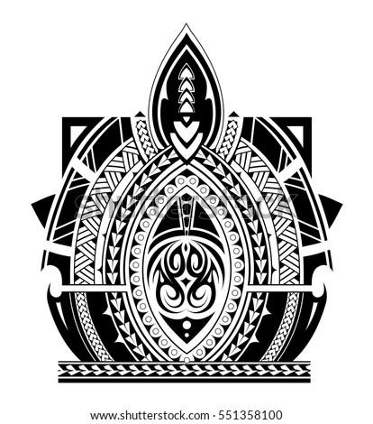 maori style tattoo design for