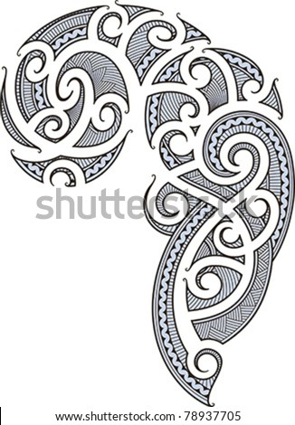 stock vector Maori style tattoo designed for a man 39s body shoulder and