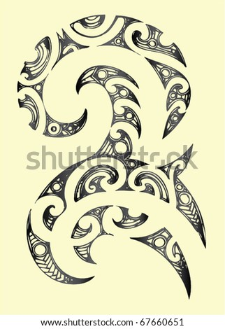 pin maori tribal tattoo stock vector 67660651 shutterstock picture to
