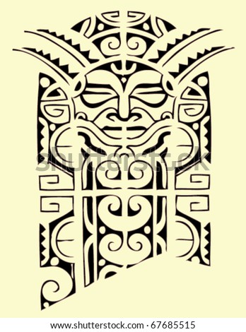 Stock vector maori tribal tattoo 67685515 jpg