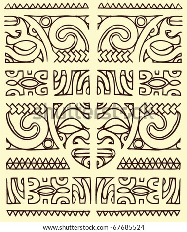 Maori Tatto Designs on Maori Tattoos Vector Pictures