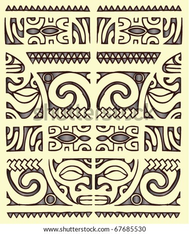 Maori Tribal Tattoos on Celtic Style Tattoo Pattern Vector Of A Maori