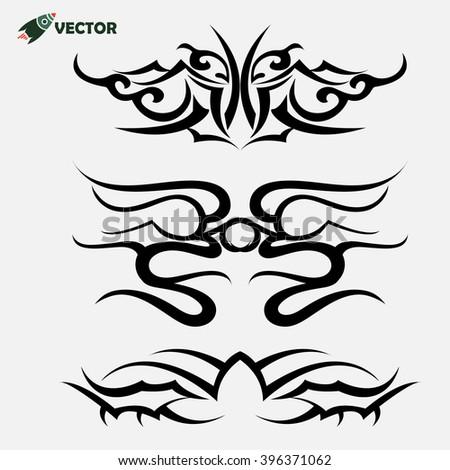 maori tribal tattoo   set of 3