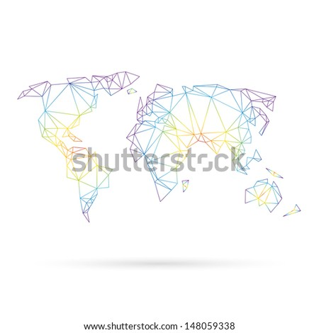 Map abstract isolated on a white background