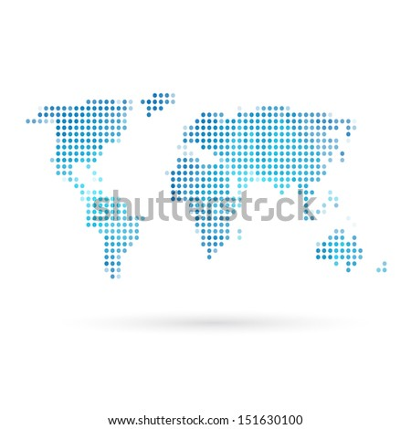 Map abstract isolated on a white backgrounds