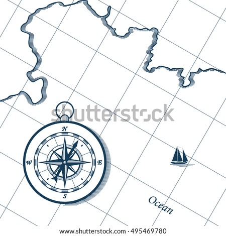 map and compass nautical wind