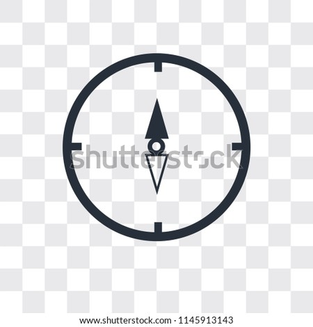 Map and compass orientation tools vector icon isolated on transparent background, Map and compass orientation tools logo concept