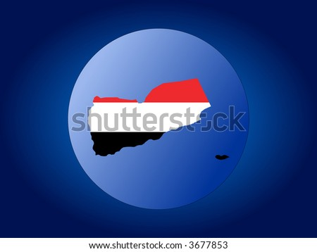 yemen map flag. yemen map flag