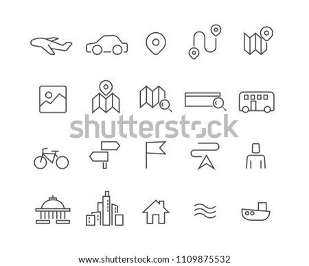 Map and Location icons set,Vector