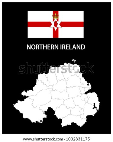map and national flag of