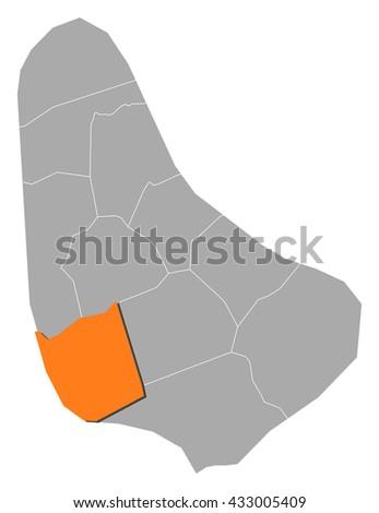 map   barbados  saint michael