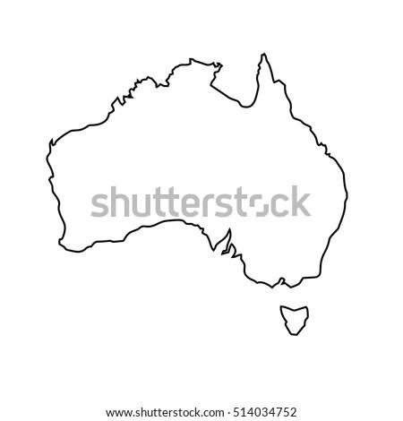 map black outline Australia