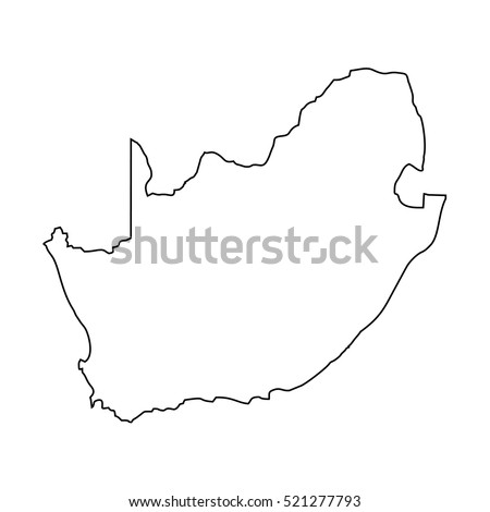 map black outline Republic of South Africa