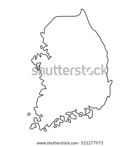 map black outline south korea