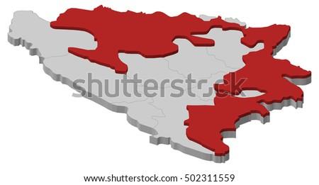 map   bosnia and herzegovina