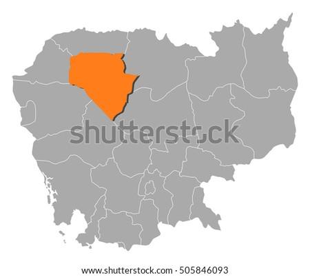 map   cambodia  siem reap