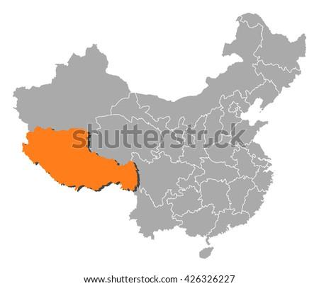 map   china  tibet