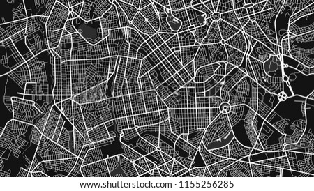 map city goania black white