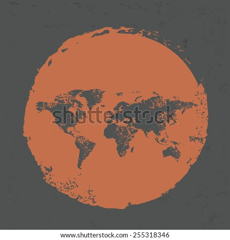 map design on grunge background