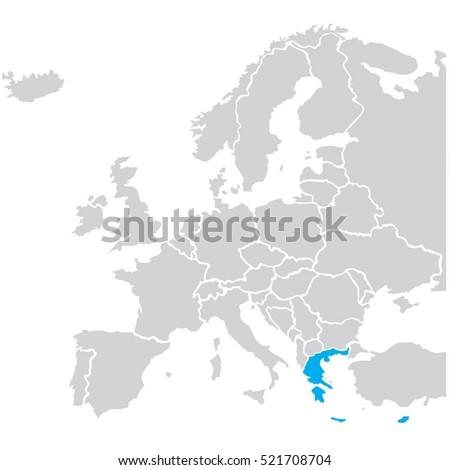 map europe greece vector