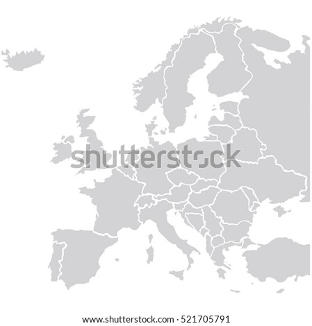 Shutterstock map europe vector