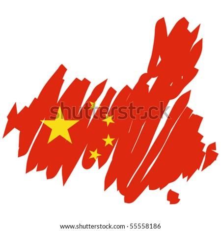 map flag China