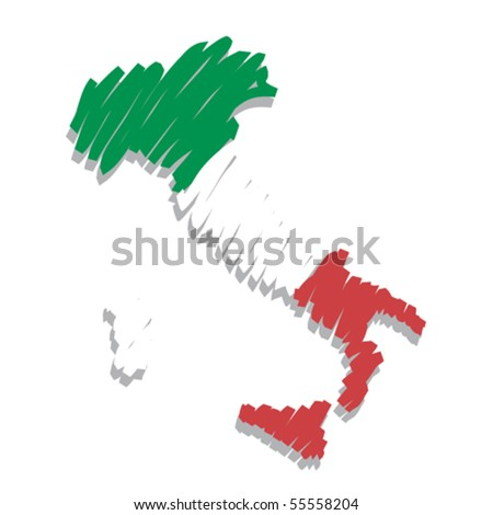 map flag Italy
