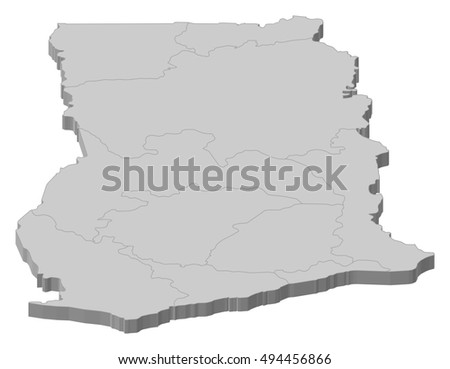Ghana Map - Download Free Vector Art, Stock Graphics & Images