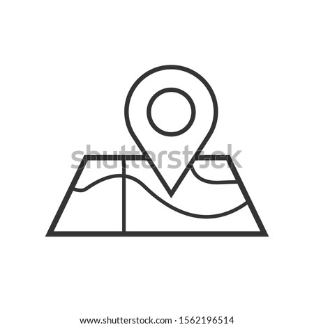 map icon isolated on white background. Simple style. Eps 10