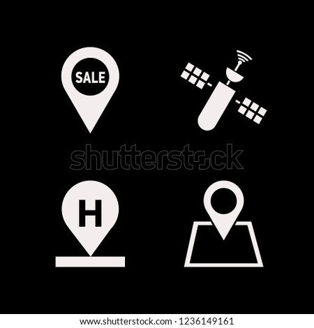 map icon. map vector icons set location, sale location, hotel location and satellite