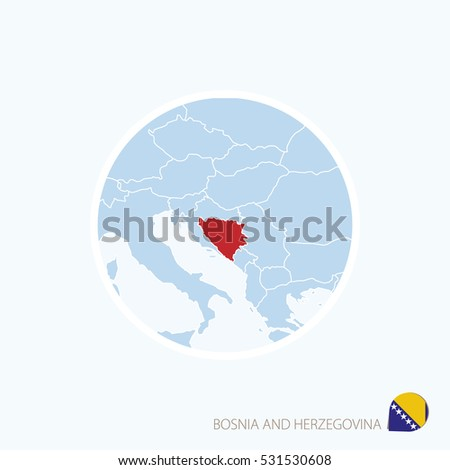 map icon of bosnia and