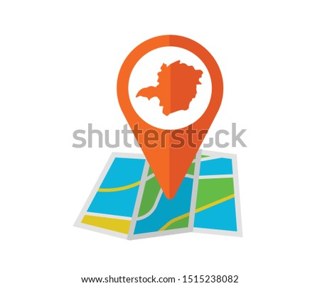 Map icon of the brazilian state of Minas Gerais