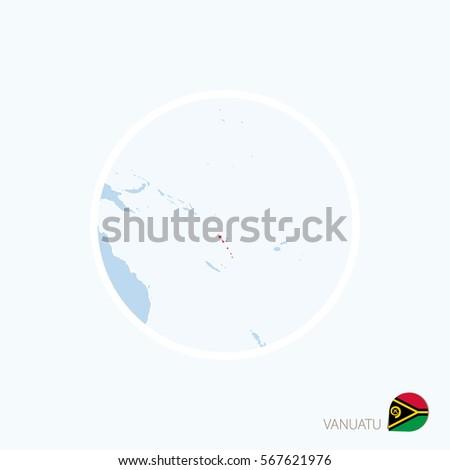 map icon of vanuatu blue map