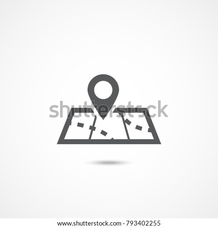 Map icon on white background