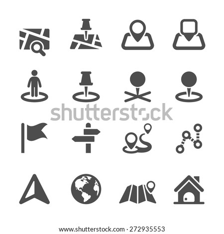 map icon set 2, vector eps10.