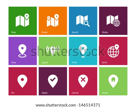 vector map icons