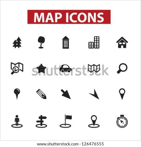 Free Map Icons Vector - Download Free Vector Art, Stock Graphics ...
