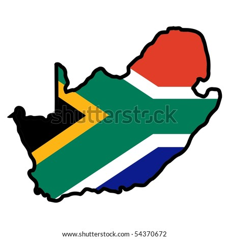 map in colors of south africa
