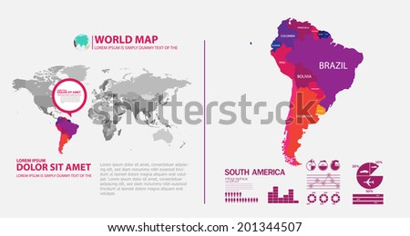 map infographic Foto stock ©